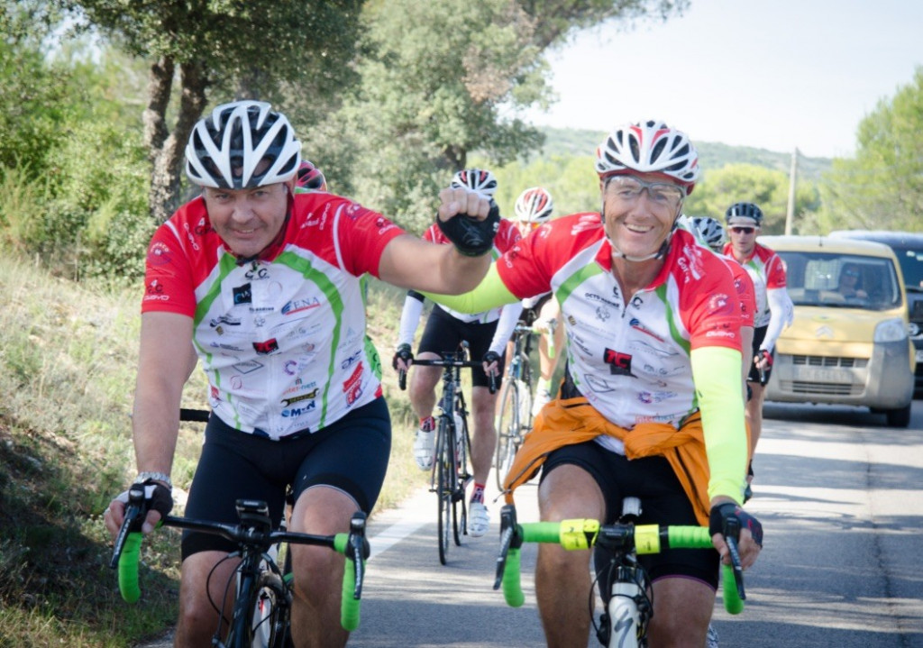 Gordon Percy riding in yachting industry's Cogs4Cancer Charity Cycle