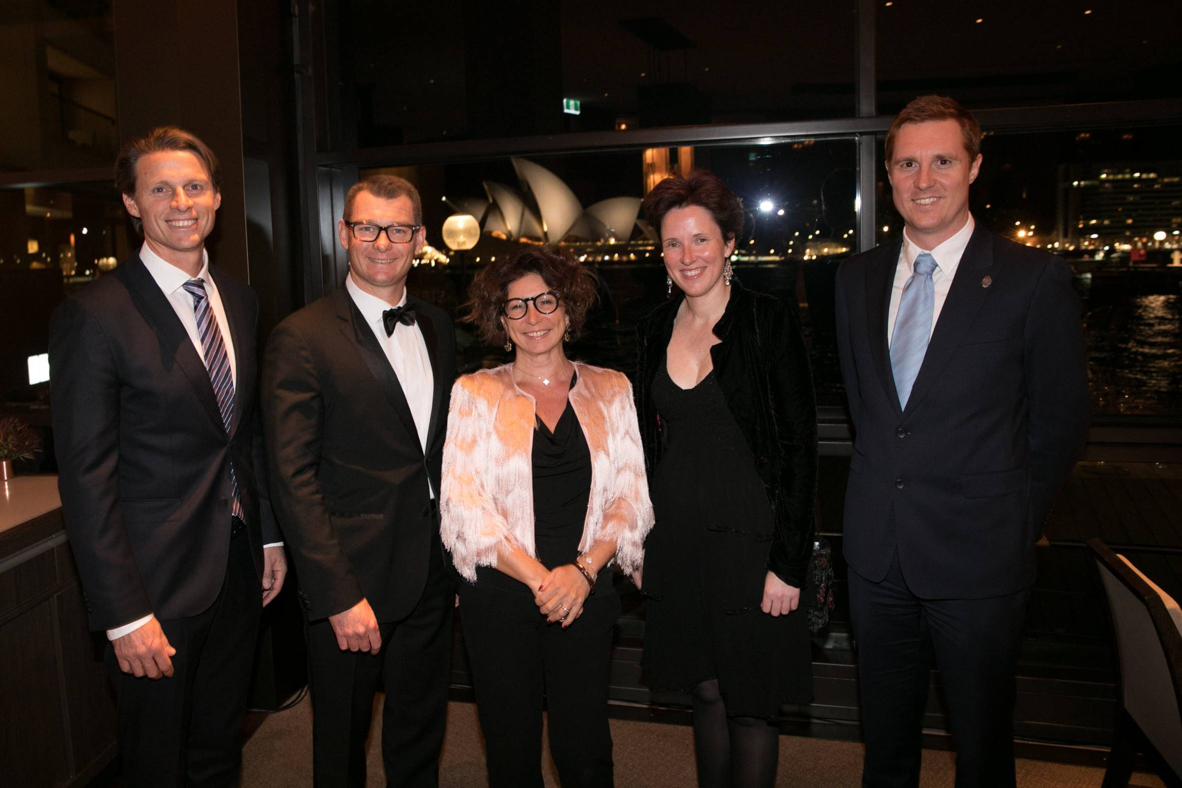CAPTION: From left to right: Justin Scarr, CEO Royal Life Saving Australia; Marc Von Arnim, General Manager Park Hyatt Sydney; Her Excellency Mrs. Catherine Fautrier, Ambassador of Monaco to Australia; Monique Sharp, Royal Life Saving Australia; and Hadrien Bourely, Consul Honorary of Monaco in Sydney.