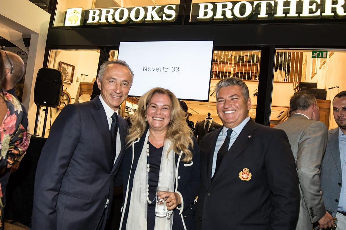 Alberto Galassi, CEO Ferretti Group with Mr & Mrs Tsouvelekakis, Brooks Brothers Monaco