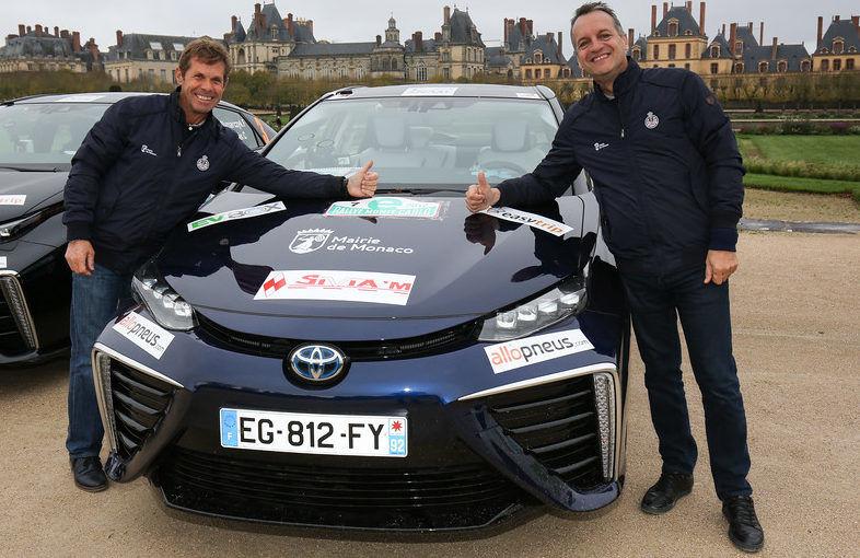 Team Mayor George Marsan and Jacques Pastor. Photo: Automobile Club de Monaco