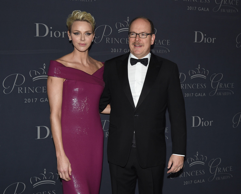 Princess Charlene Prince Albert attend 2017 Princess Grace Awards Gala at The Beverly Hilton Hotel on October 25, 2017 in Beverly Hills, California.Photo by Kevin Winter/Getty Images for Princess Grace Foundation-USA