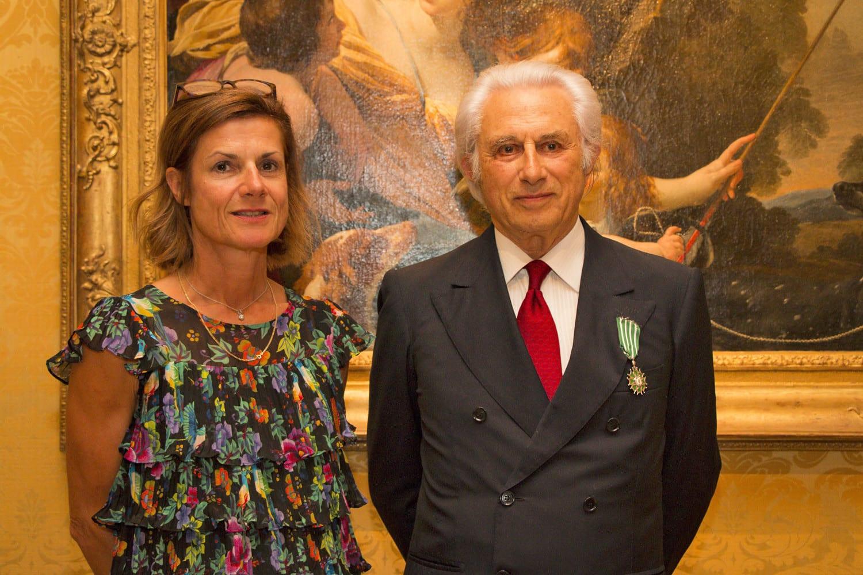 Marine de Carné-Trécesson, Ambassador of France to Monaco, with Adriano Ribolzi. Photo: F Terlin