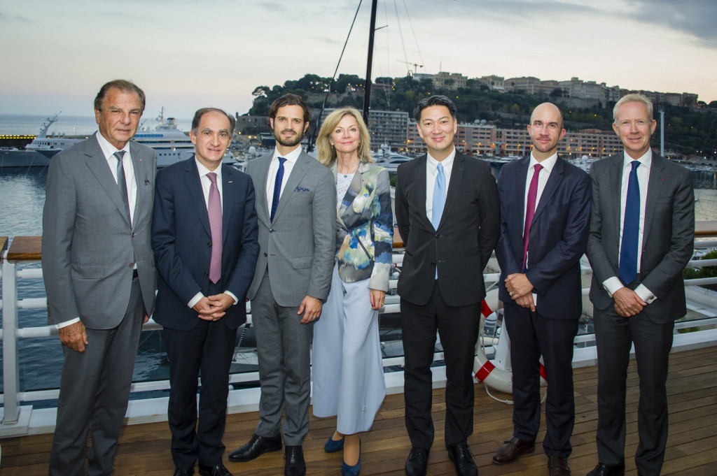 PHOTO: Michel Dotta, President Monaco Economic Board, Jean Castellini, Minister of Finance and Economy; Prince Albert Carl Philip of Sweden; Veronika Wand-Danielsson, Ambassador of Sweden to Monaco, Mattias Lindgren, Secretary of State to the Minister of Infrastructure, Robert Wentrup, Business Advisor of Sweden in France -Business Sweden and Jonas Jakobson, Founder of Nordic Equities. Photo: Realis/MEB.