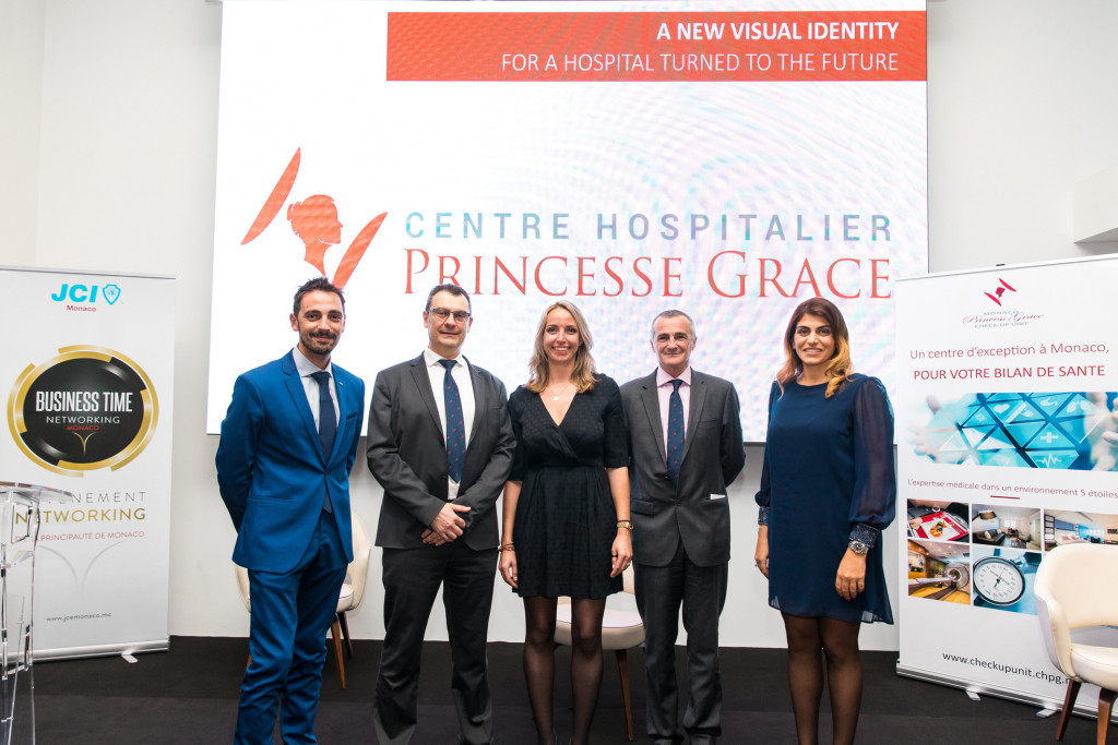 Olivier Mura, Dr Gilles Chironi, Benoite de Sevelinges, Patrick Bini and Laetitia Mikail. Photo: Philippe Fitte