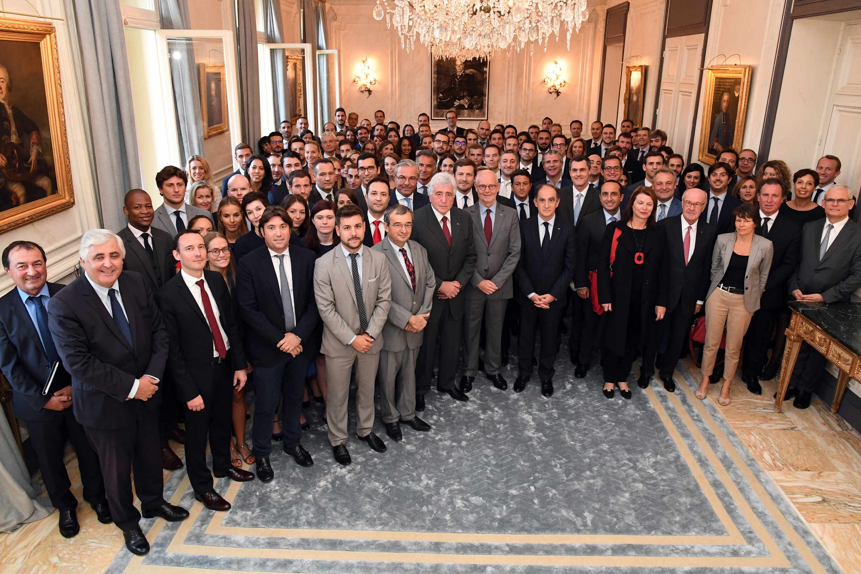 Reception with Minister of State Serge Telle (fifth from right). Photo: Manuel Vitali/DC
