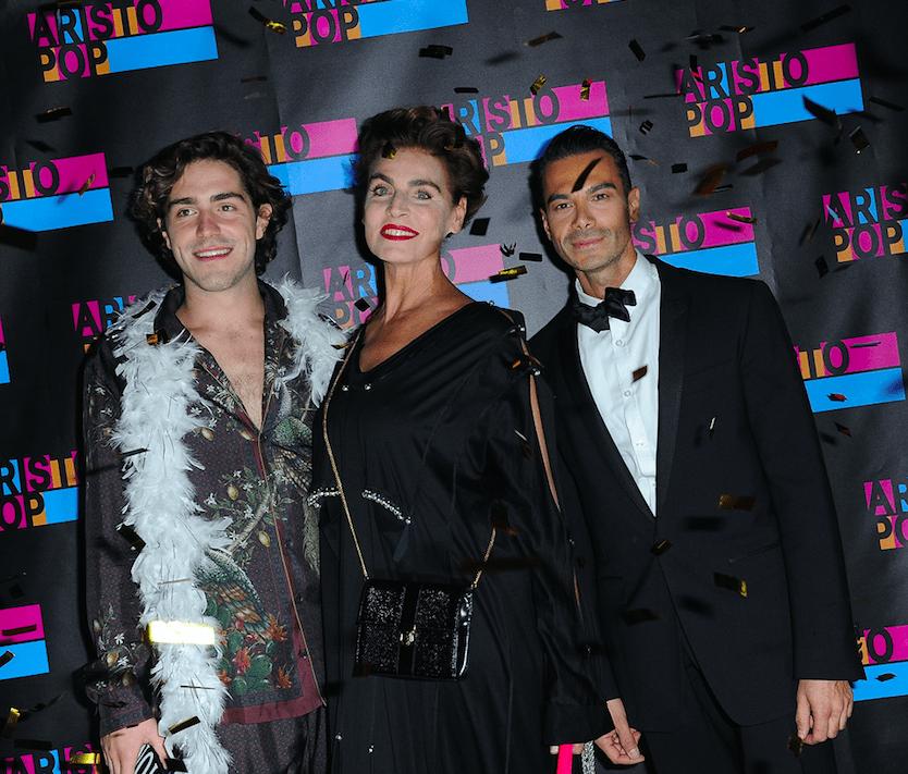 Tommaso Zorzi, Antonia Dell'Atte, Filippo Bruno Tornaforte at AristoPop launch in Milan