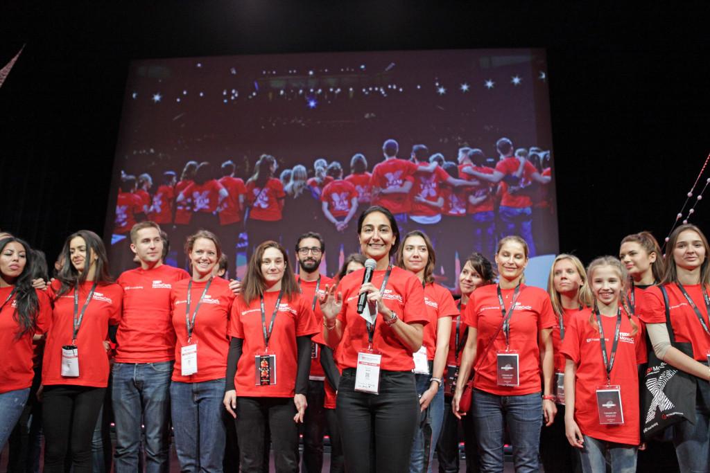 Organiser Nazanine Matin all smiles with her team. Photo: Kaidi-Katariin Knox