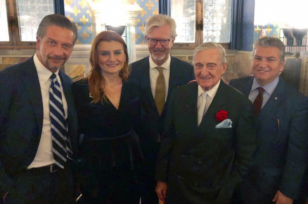 Luca Gastaldi, CEO, Brooks Brothers EMEA, Fusun Kouran, CEO, Brooks Brothers Turkey, Claudio Del Vecchio, Chairman & CEO, Brooks Brothers, Rahmi Koc, Brooks Brothers Turkey, and Konstantinos Tsouvelekakis, Brooks Brothers Monaco- Greece- Romania.