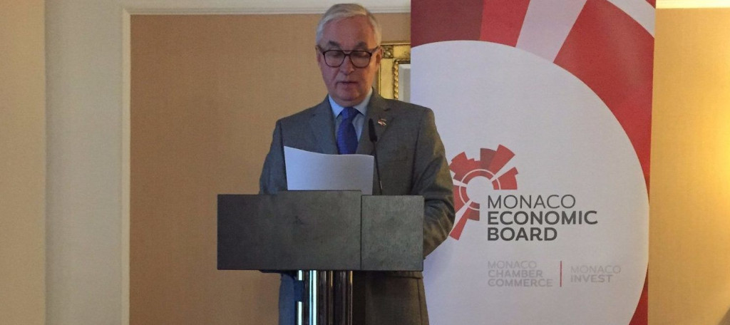 MEB in Moscow presentation by the Consul of Monaco in Russia, Igor Yurgens. Photo: Twitter MonacoEconomicBoard