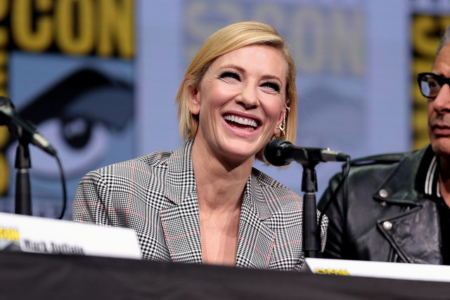 "Cate Blanchett speaking at the 2017 San Diego Comic Con International, for ""Thor: Ragnarok"", at the San Diego Convention Center in San Diego, California. Photo: Gage Skidmore"