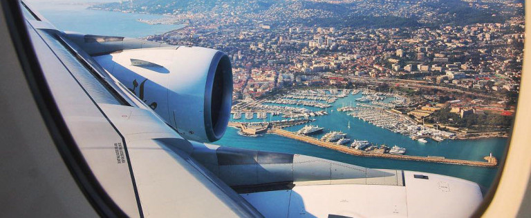Nice Airport approach