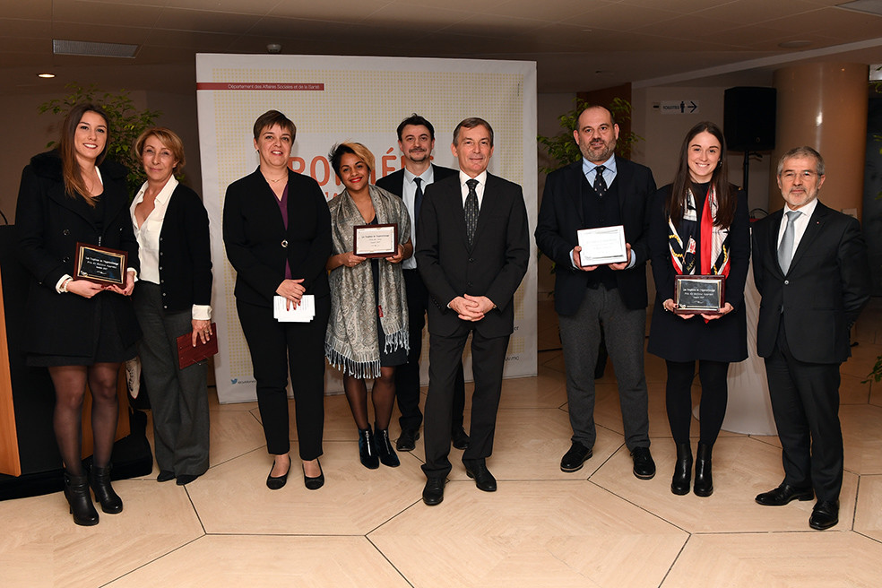 Best Apprentice Award, a tie between Coralie Sategna and Pastor Immobilier, Alizée Sassi and the Monaco Yacht Club. The Jury Prize went to Daniela Guerra-Flores and the company Mobee. Photo: Manuel Vitali/DC