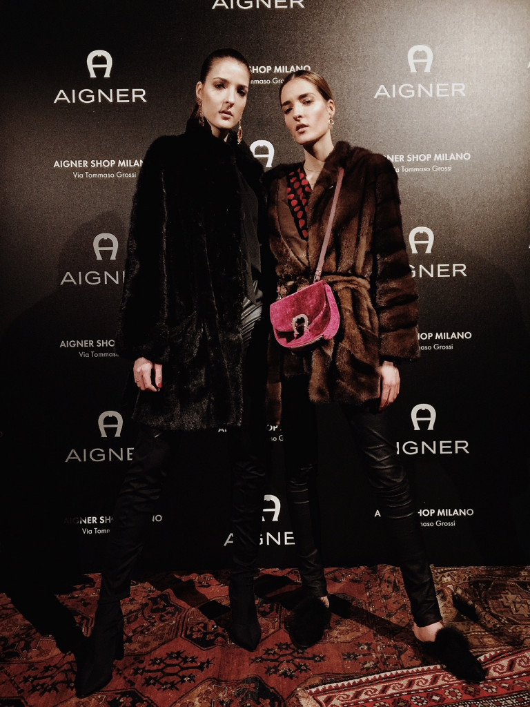 Desiree and Jennifer Selmanovic at Aigner. Photo: Louis Pisano