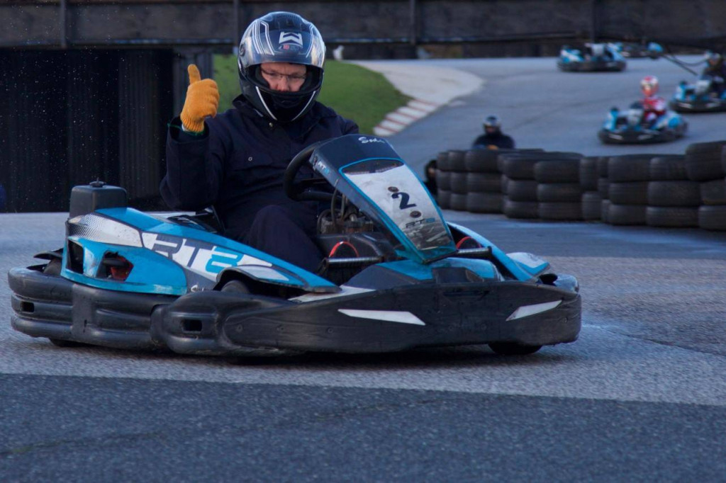 Prince Albert on the track at St Eval Kart Circuit. Photo: Facebook St Eval Kart Circuit