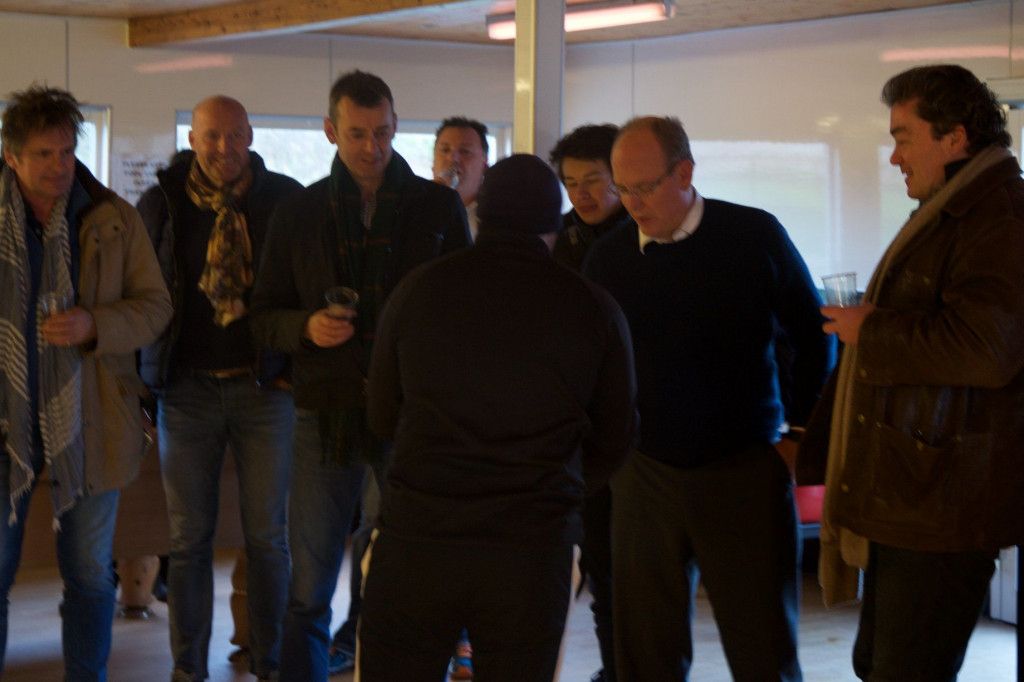 Prince Albert and his entourage , including Mark Thomas, at St Eval Kart Circuit. Photo: Facebook St Eval Kart Circuit