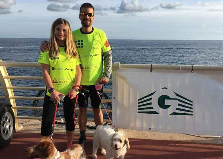 Ben and Alice Rolfe at the 2017 Monaco No Finish Line.