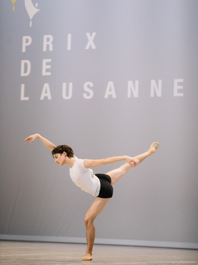 Shale Wagman at 46th Prix de Lausanne in February 2018.