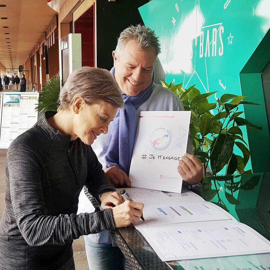 Kate and Didier sign National Energy Pact.