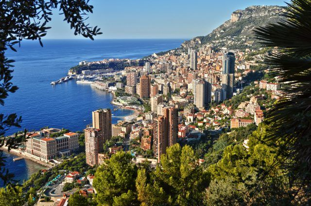 41957380 - view of the city of monaco. french riviera