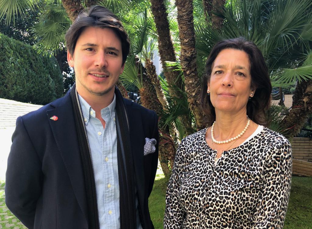 New BAM President John-Luigi Megginson with Vanessa Ilsley