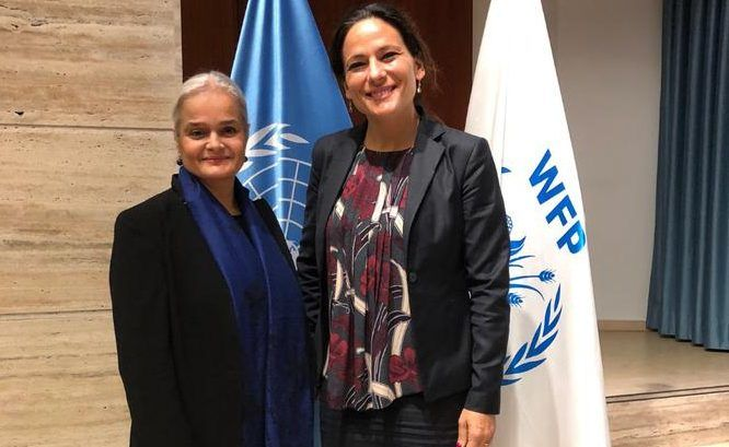 Martine Garcia-Mascarenhas, Deputy Representative to the FAO and the WFP, and Virginia Villar Arribas, the new WFP Country Director in Burundi. Photo: DC