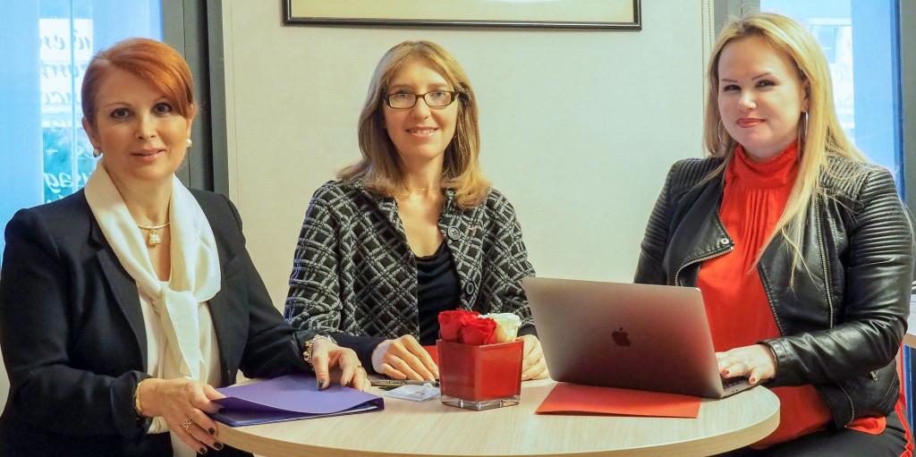 Maryse Battaglia, Isabelle Contenseau-Realini and Virginie Cotta. Photo: Facebook Conseil National de Monaco