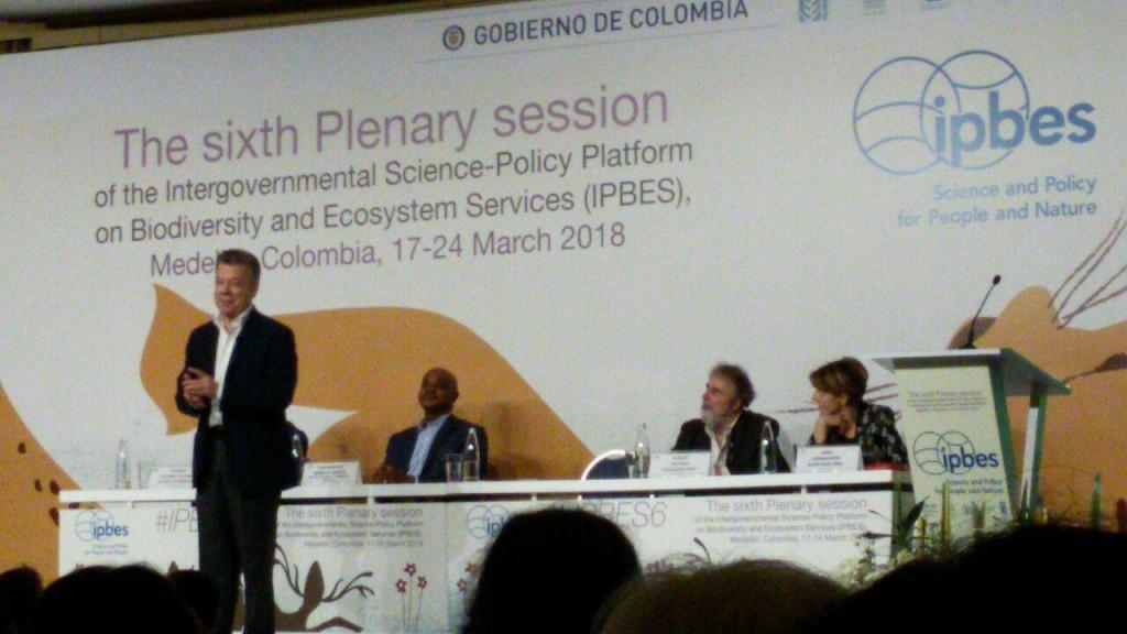 President Juan Manuel Santo. Photo: Facebook Invemar