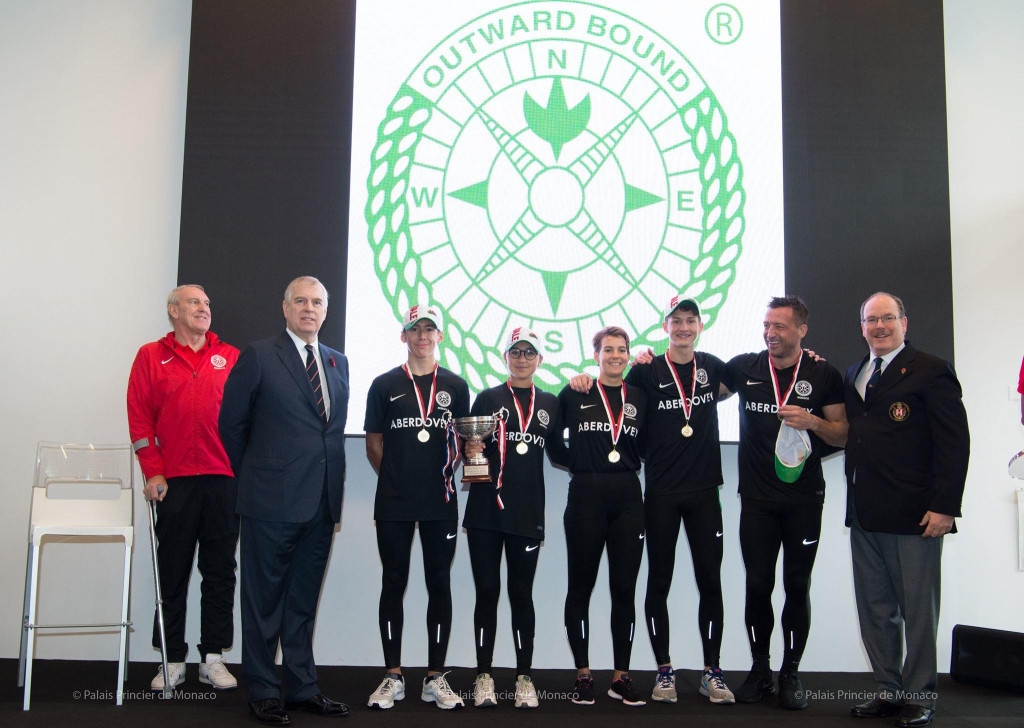 Prince Andrew and Prince Albert with 2017 Princes Cup winners ,Facebook Prince's Palace of Monaco