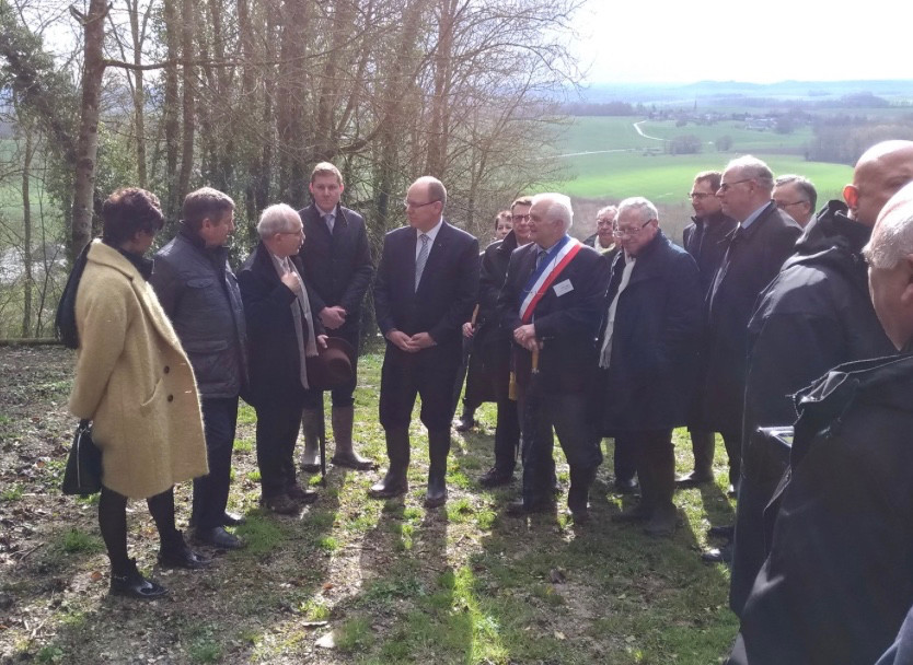 Prince Albert visiting Chaumont-Porcien. Photo: Twitter France3-ChampArdenne