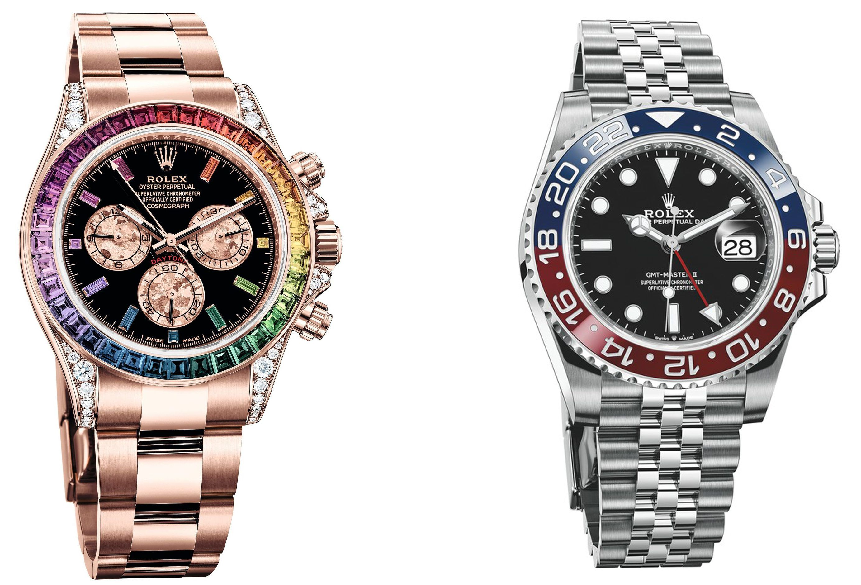 Daytona Rainbow and GMT-Master II