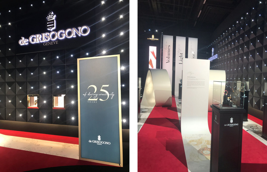 De Grisogono exhibition for the 25 years anniversary at Baselworld 2018.