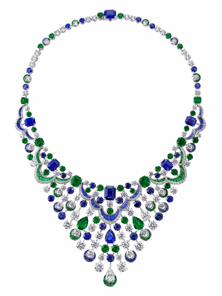 Photo: Graff Sapphire, Diamond and Emerald Necklace (sapphires 47.57ct, diamonds 35.12ct, emeralds 28.50ct)
