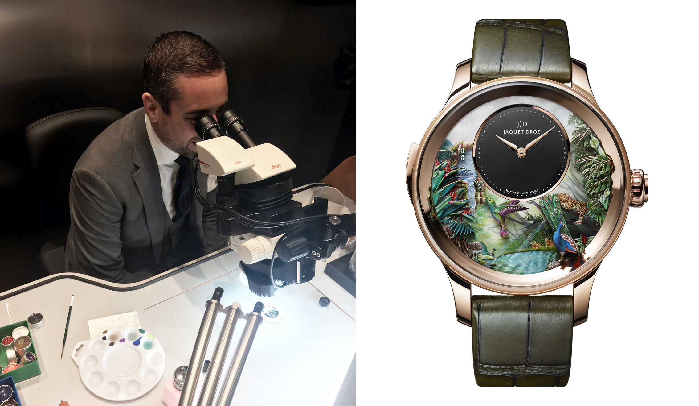 Antonio Cecere at Jaquet Droz. Tropical Bird Repeater