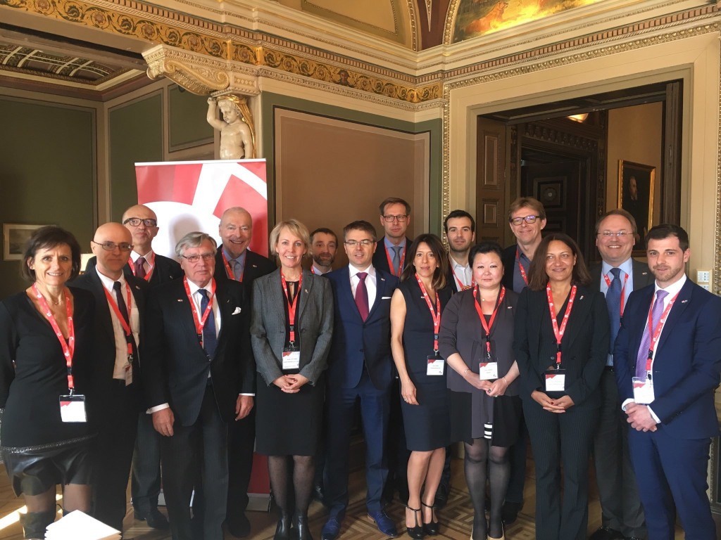 Members of the Monegasque delegation with the Consul of Monaco in Stockholm Olof Carl Sjöström. Photo: DR