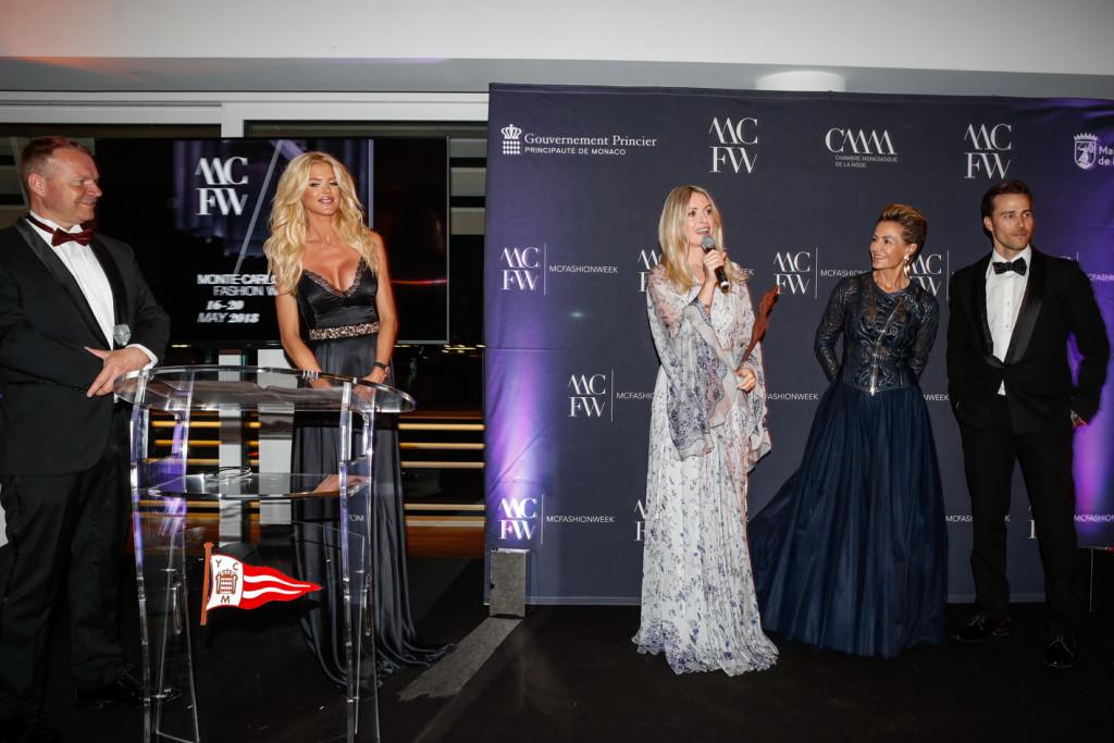 MCFW Fashion Award Winner Constanza Cavalli Etro, Celina Lafuente de Lavotha and Karl E. Landler. Photo: Daniel Guidetti