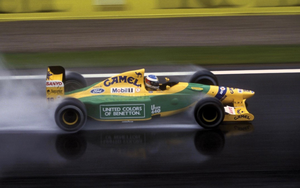 992 Benetton team car  driven by Michael Schumacher at the Spanish Grand Prix. Photo: RM Sotheby's