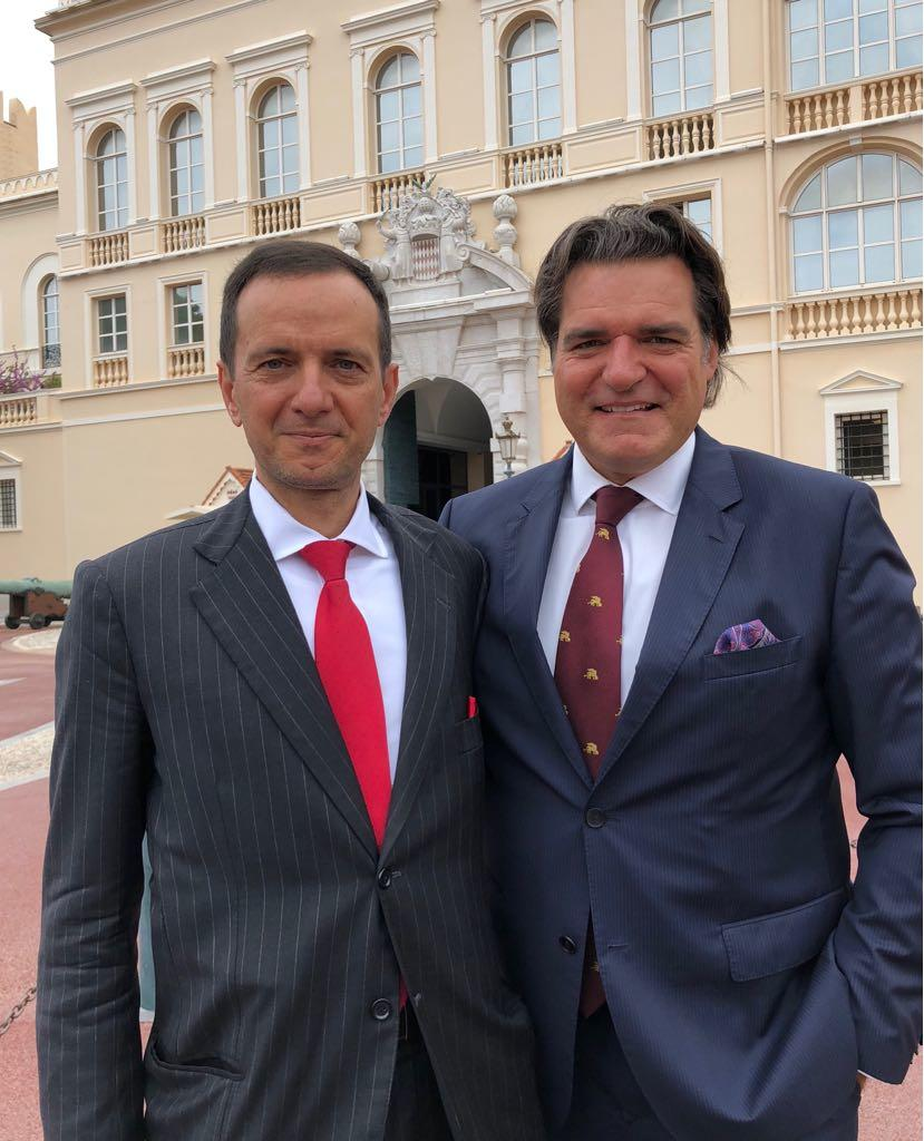 Guiseppe Ambrosio, left, with Anthony Ritossa, Chairman of Ritossa Family Office