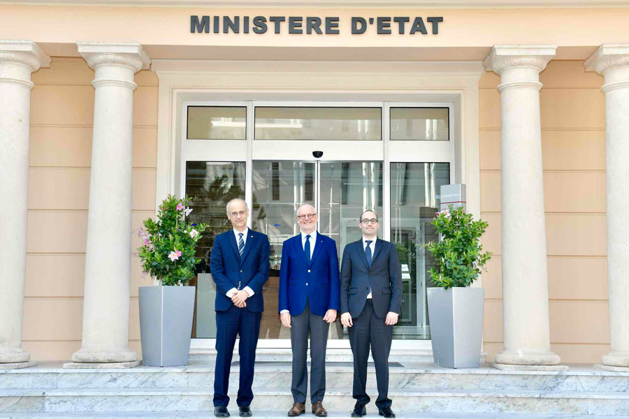 Antoni Marti Petit, Head of the Government of Andorra and Nicola Renzi, Minister for Foreign Affairs, Politics and Justice of San Marino, met HE Mr. Serge Telle, Minister of State.