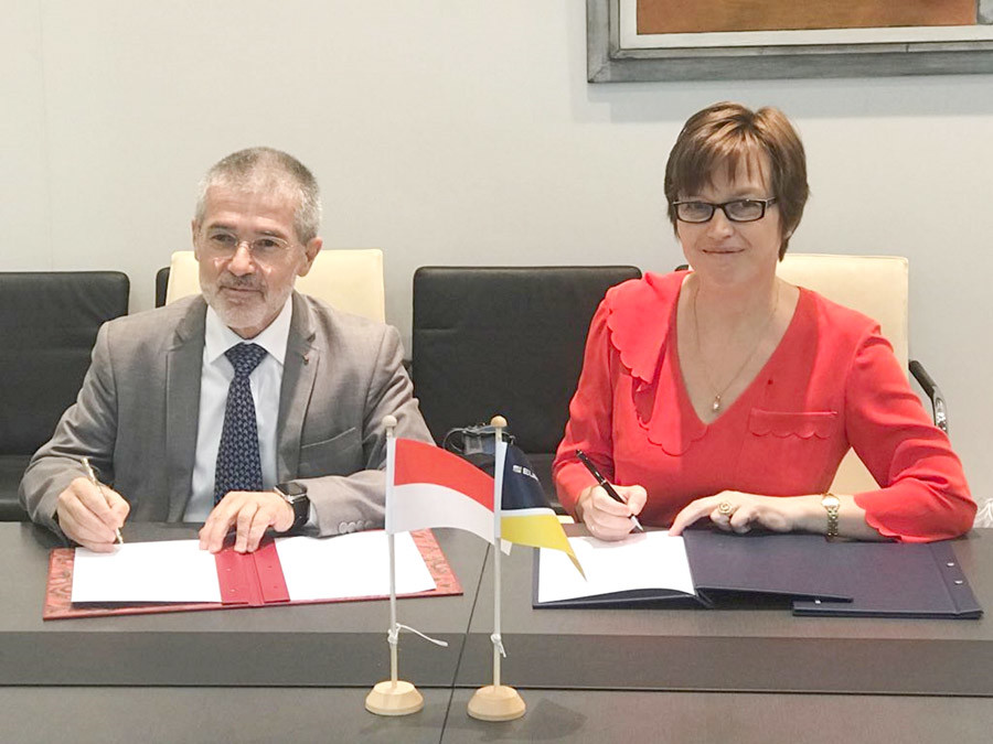 Mr Patrice Cellario, Minister of the Interior, and Mrs Catherine De Bolle, Executive Director of Europol