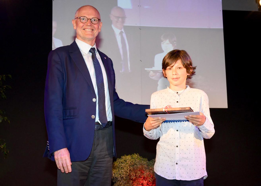 Serge Telle, Minister of State, handed out prizes at St Charles School, 29 June 2018