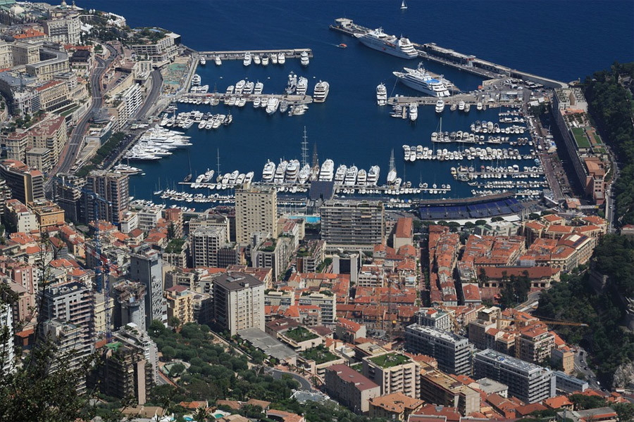 Monaco from the air