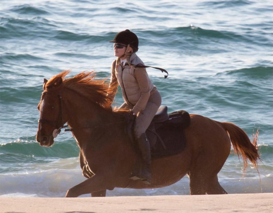 Madonna on horseback