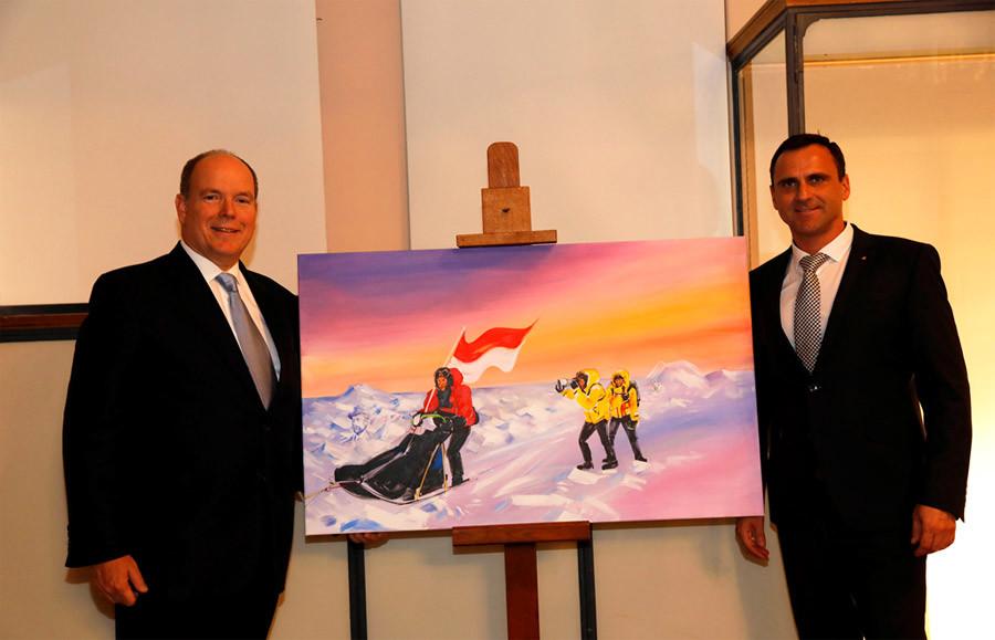 Filip Kulisev with HSH Prince Albert II