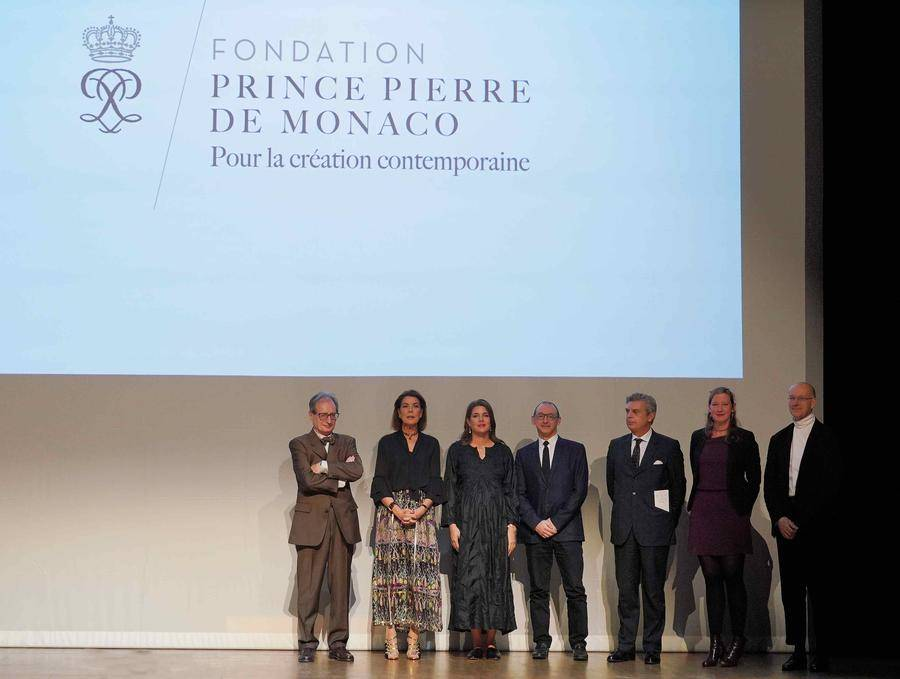 H.R.H. the Princess of Hanover and Charlotte Casiraghi surrounded by Jean-Luc Marion (left), and Sébastien Ministru, Maurizio Serra, Emmanuelle Favier and Thomas Larcher (right). © Government Communication Department / Michael Alési