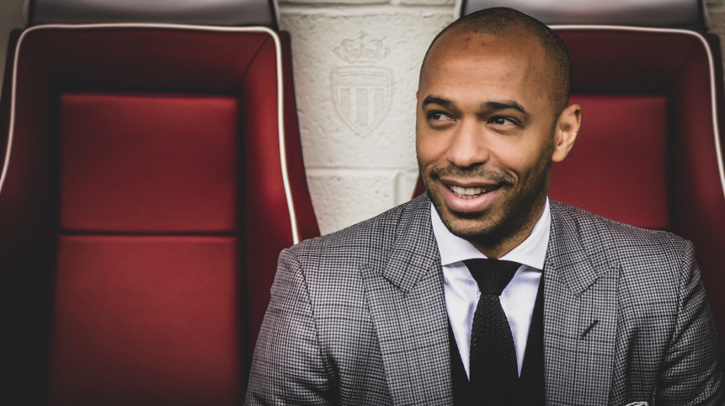Thierry signs for AS Monaco. Pic: Frank Nataf.