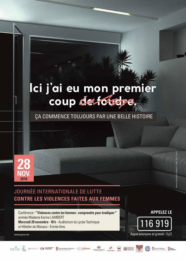 International Day Against Violence Against Women, Monaco mobilizes