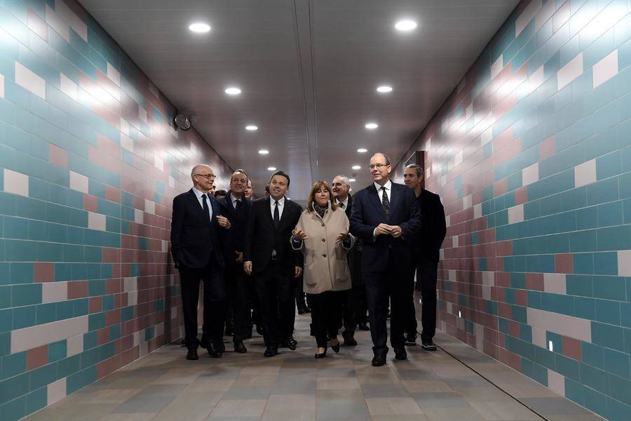 Inauguration of the new underground pedestrian access at Monaco2 Station - copyright - Directorate of Communication / Manuel Vitali