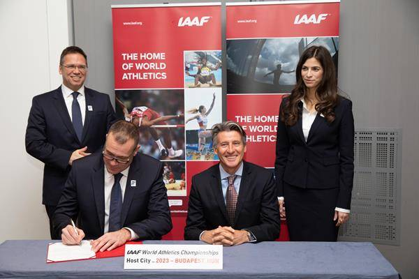 Signing ceremony for the 2023 World Championships (Philippe Fitte) © Copyright