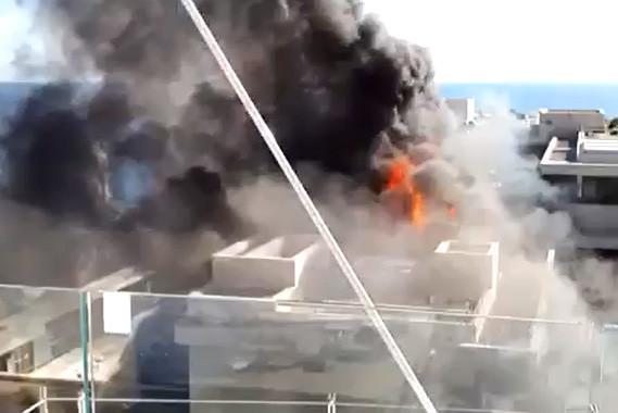 Hotel de Paris roof fire