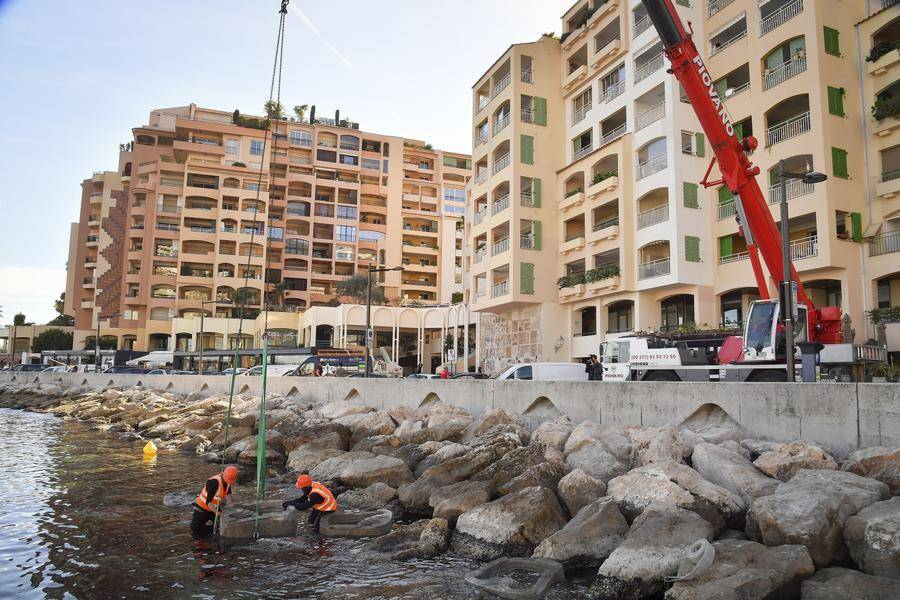 Installation of Econcrete in Fontvieille
